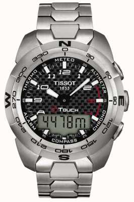 Tissot Mens t-touch experto titanio alarma cronógrafo T0134204420200