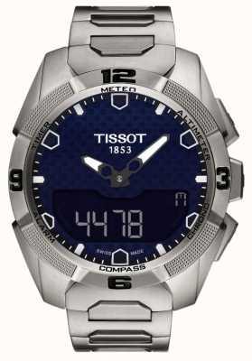 Tissot Mens t-touch titanio experto alarma solar chrono T0914204404100