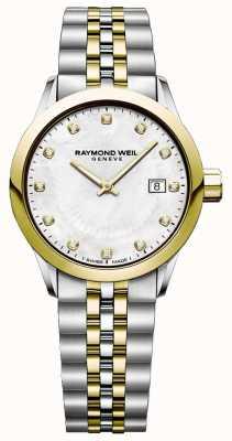 Raymond Weil Reloj independiente de dos tonos para mujer 5629-STP-97081