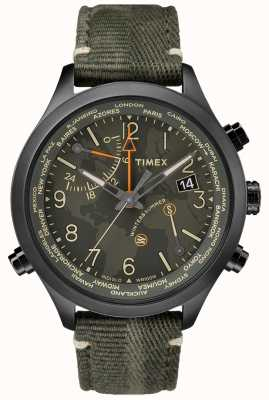 Timex Reloj de tela Waterbury world time 43mm TW2R43200VQ