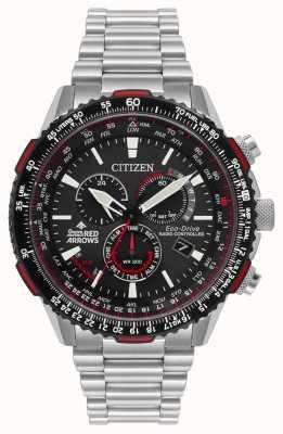 Citizen Mens flechas rojas edición especial controlado por radio eco-drive CB5008-82E