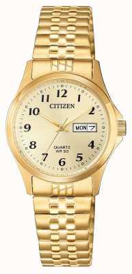 Citizen Reloj de expansión de acero inoxidable con cuarzo para mujer EQ2002-91P