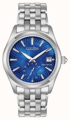 Citizen Mujeres eco-drive esfera azul acero inoxidable wr100 EV1030-57N
