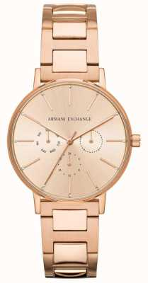 Armani Exchange Lola womens rose gold pvd plateado AX5552