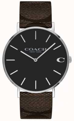 Coach Reloj de dial rosado brillante del novio de las mujeres 1402156