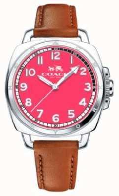 Coach Reloj de dial rosado brillante del novio de las mujeres 14502156