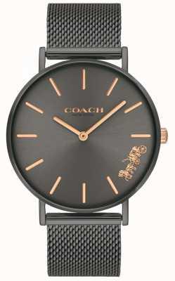 Coach Reloj de pulsera de malla de acero ip perry para mujer gris 14503127