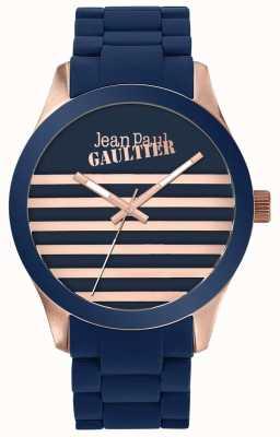 Jean Paul Gaultier Reloj de goma unisex azul y rosa oro Enfants terribles JP8501127