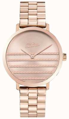 Jean Paul Gaultier Glam womens rose gold tone reloj de metal JP8505608