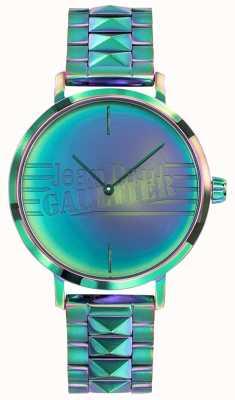 Jean Paul Gaultier Reloj del metal del efecto del arco iris verde de las mujeres malas de la muchacha JP8505705