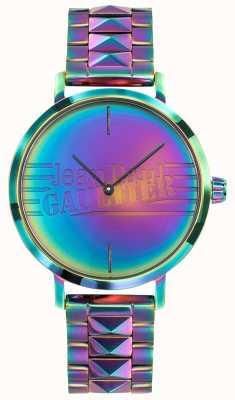 Jean Paul Gaultier Reloj del metal del efecto del arco iris púrpura de las muchachas malas de la muchacha JP8505706