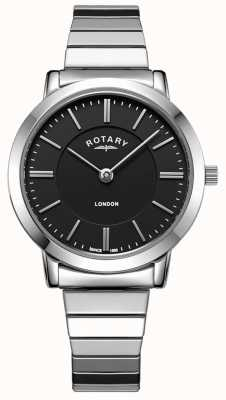 Rotary Reloj de pulsera expansible de acero inoxidable londres para mujer. LB00765/04