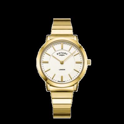 Rotary Reloj para mujer de pulsera de acero dorado londinense dorado LB00766/03