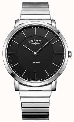 Rotary Reloj de pulsera de expansión de acero inoxidable para hombre de londres GB02765/04