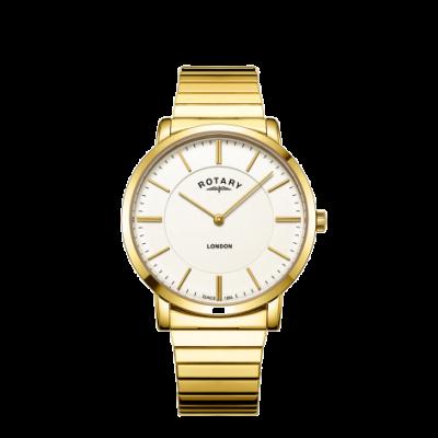Rotary Reloj de pulsera de oro para hombre de oro de Londres en expansión GB02766/03