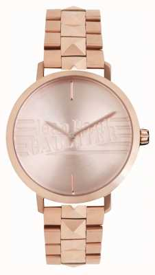 Jean Paul Gaultier (sin caja) reloj de pulsera de tono dorado rosa para niña mala 8505701