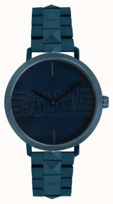 Jean Paul Gaultier Reloj de la pulsera del tono azul de la muchacha mala para mujer 8505702