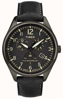 Timex Hombre waterbury tradicional negro crono cuero negro TW2R88400