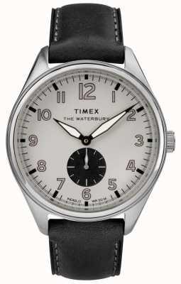 Timex Hombre waterbury tradicional gris subdial cuero negro TW2R88900