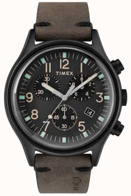 Timex Mens mk1 sst chrono 42mm caja negra esfera negra correa negra TW2R96500