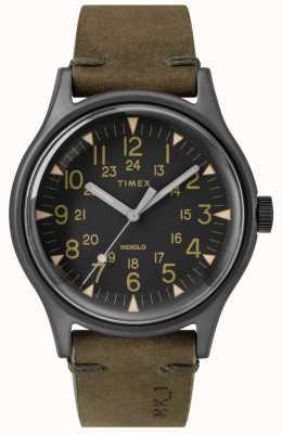 Timex Mens mk1 sst chrono 40mm caja negra correa negra oliva TW2R97000