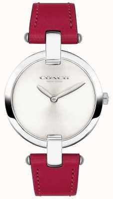 Coach Reloj chrystie de cuero rojo para mujer 14503199