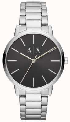 Armani Exchange Mens acero inoxidable reloj negro dial exchange AX2700