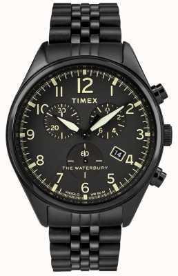 Timex Reloj cronógrafo tradicional Waterbury negro. TW2R88600D7PF