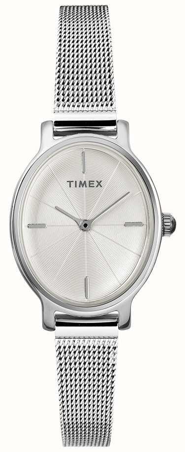 8432f99b7cff Timex Reloj De Malla Oval De Plata Para Mujer Milano TW2R94200D7PF ...