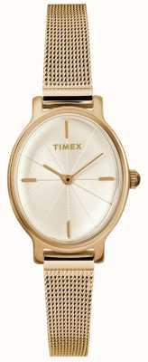 Timex Reloj de malla oval milano para mujer TW2R94400D7PF
