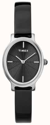 Timex Reloj de malla en plata oval milano mujer negro esfera TW2R94500D7PF