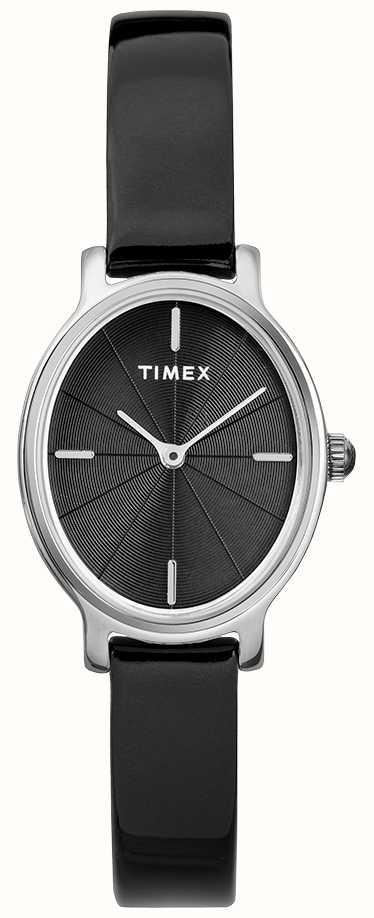 d94cdd2c2a80 Timex Reloj De Malla En Plata Oval Milano Mujer Negro Esfera ...