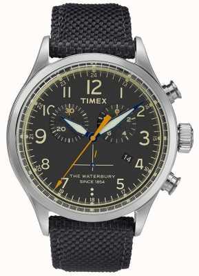 Timex Reloj cronógrafo Waterbury de acero inoxidable negro. TWF3C8260UK