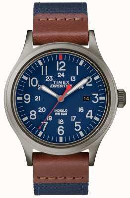Timex Expedition scout watch correa de tela azul TW4B14100D7PF