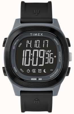 Timex Reloj negro esencial hombre de hierro con pantalla negativa TW5M19000SU