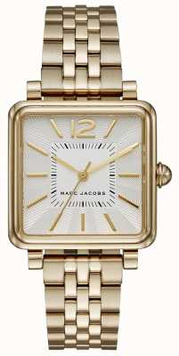 Marc Jacobs Reloj para mujer Vic goldtone bracelet square dial MJ3462