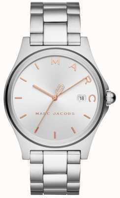 Marc Jacobs Henry para mujer reloj plateado MJ3583