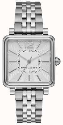 Marc Jacobs Reloj de mujer plata reloj plateado esfera cuadrada MJ3461