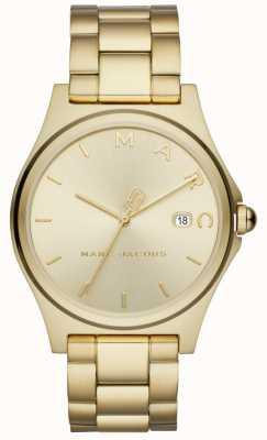 Marc Jacobs Henry para mujer reloj dorado MJ3584