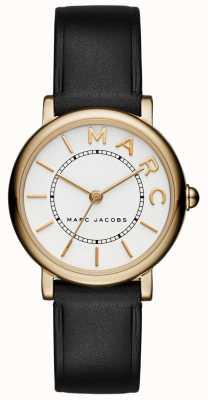 Marc Jacobs Reloj clásico para mujer marc jacobs negro cuero MJ1537