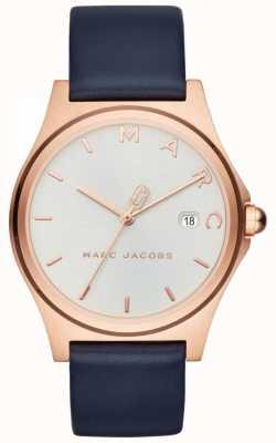 Marc Jacobs Reloj henry para mujer correa de cuero azul marino MJ1609