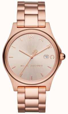 Marc Jacobs Reloj henry para mujer en tono dorado rosa MJ3585