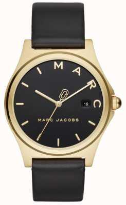 Marc Jacobs Reloj henry para mujer correa de cuero negro MJ1608