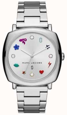 Marc Jacobs Reloj mandy para mujer con tono plateado MJ3548
