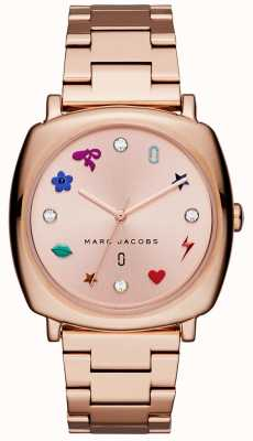 Marc Jacobs Reloj mandy para mujer rosa dorado MJ3550