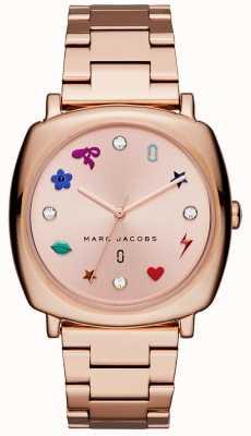 Marc Jacobs Reloj mandy para mujer en tono oro rosa. MJ3550