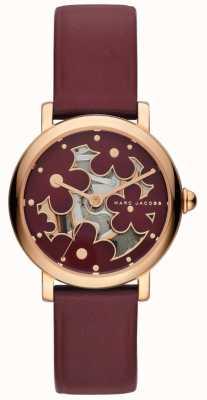 Marc Jacobs Reloj clásico burghundy de mujer marc jacobs MJ1629