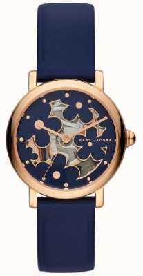 Marc Jacobs Reloj clásico marc jacobs para mujer de cuero marino MJ1628