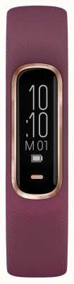 Garmin Vivosmart 4 horas rastreador de buey pequeña / mediana caja de oro rosa púrpura 010-01995-01