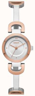 DKNY Reloj para mujer de pulsera de acero inoxidable con enlace a la ciudad NY2749